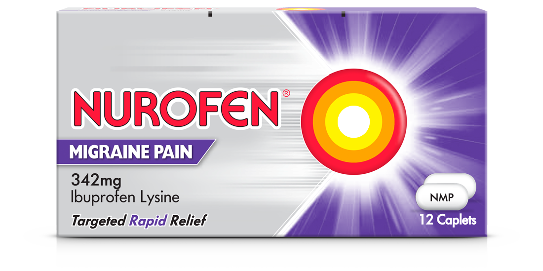 A pack of Nurofen Migraine Pain Caplets