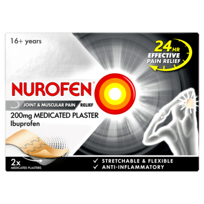 NUROFEN JOINT & MUSCULAR PAIN RELIEF 200MG MEDICATED PLASTER