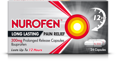 NUROFEN LONG LASTING PAIN RELIEF 300MG PROLONGED RELEASE CAPSULES