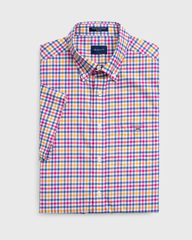 Gant the broadcloth 3 colour short sleeve shirt
