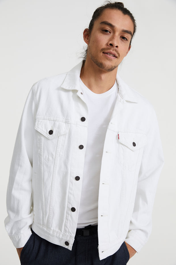 LEVIS VINTAGE FIT TRUCKER JACKET WHITE OUT