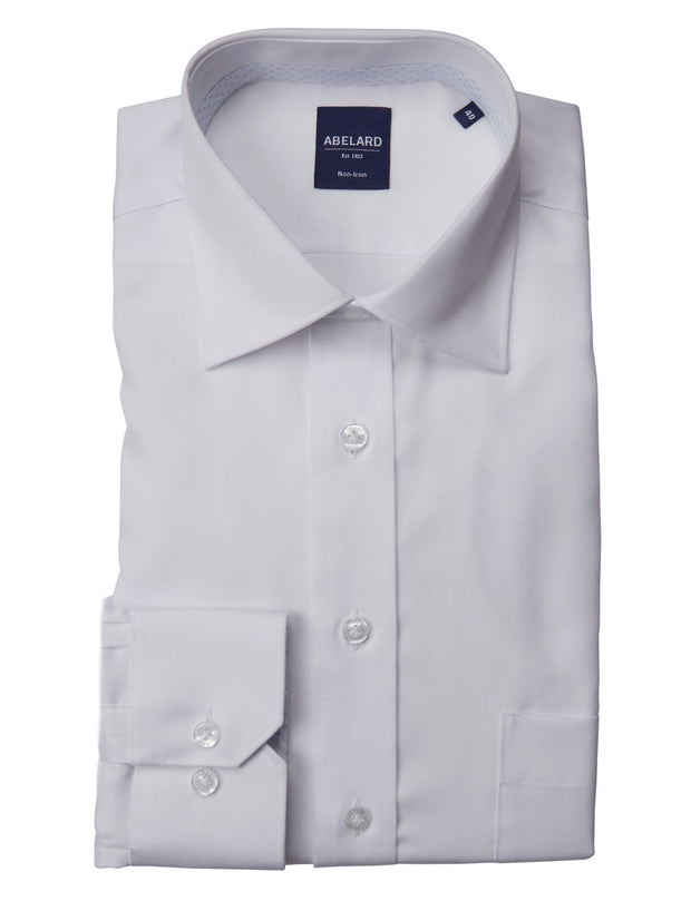 Abelard super non iron twill classic fit white