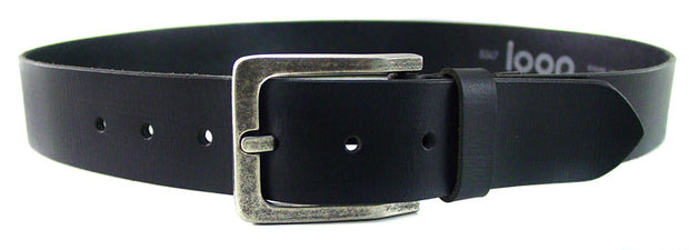 LOOP LEATHER BILLY BASIC BELT BLACK