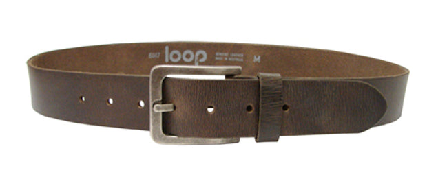 LOOP LEATHER BILLY BASIC BELT CHOC