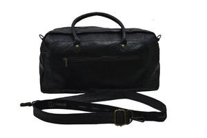 Indepal Leather Classic Duffle Bag Black