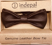 indepal leather Flannery Leather Bow Tie Brown