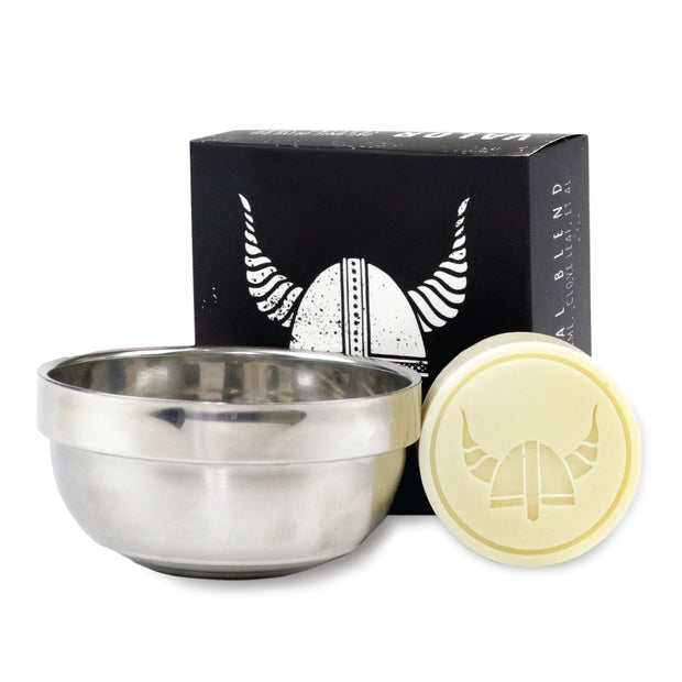 VALOR ORGANIC SHAVING SOAP/ STAINLESS VESSEL