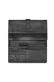 Loop leather Huntington travel wallet black