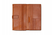 Loop leather Huntington travel wallet tan