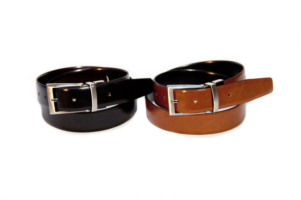 VOSS STORE AVALON MENSWEAR STORE LOOP LEATHER CO ZIGGY BELT BLACK AND TAN