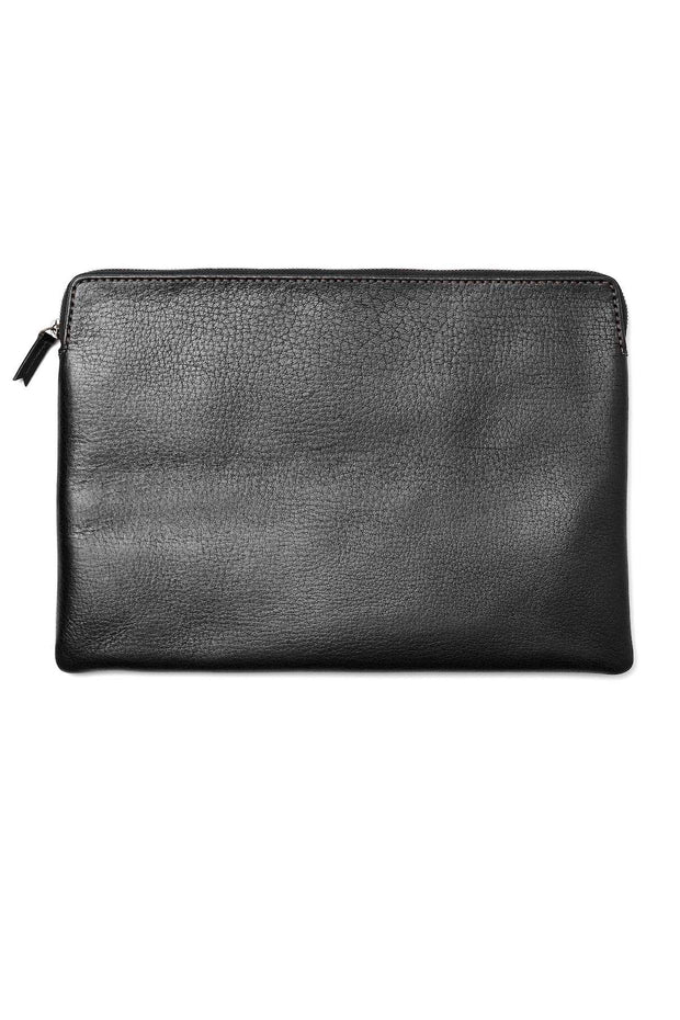 LOOP LEATHER CO ZIP IPAD SATCHEL BLACK