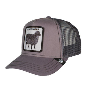 Goorin animal trucker black sheep shades of grey