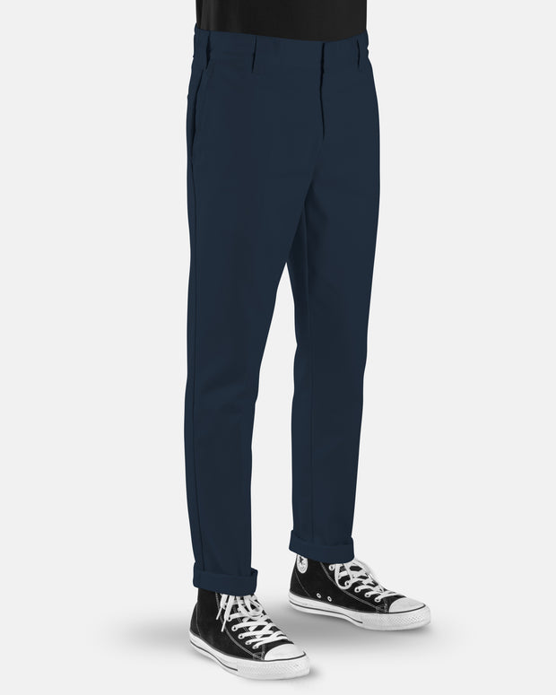 voss store menswear and workwear Sydney DICKIES WE872 SLIM TAPERED PANT NAVY