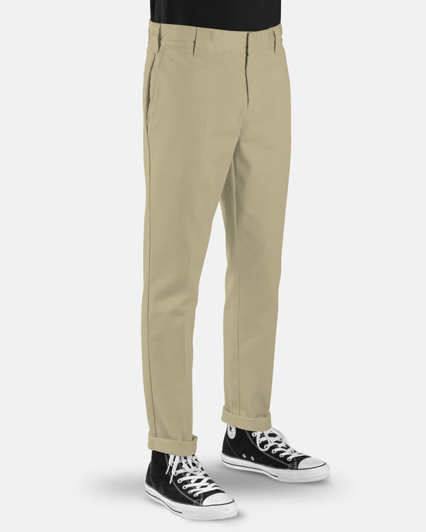 voss store menswear and workwear Sydney DICKIES WE872 SLIM TAPERED PANT KHAKI