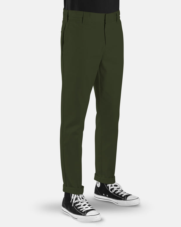 voss store menswear and workwear Sydney DICKIES WE872 SLIM TAPERED PANT OG OLIVE
