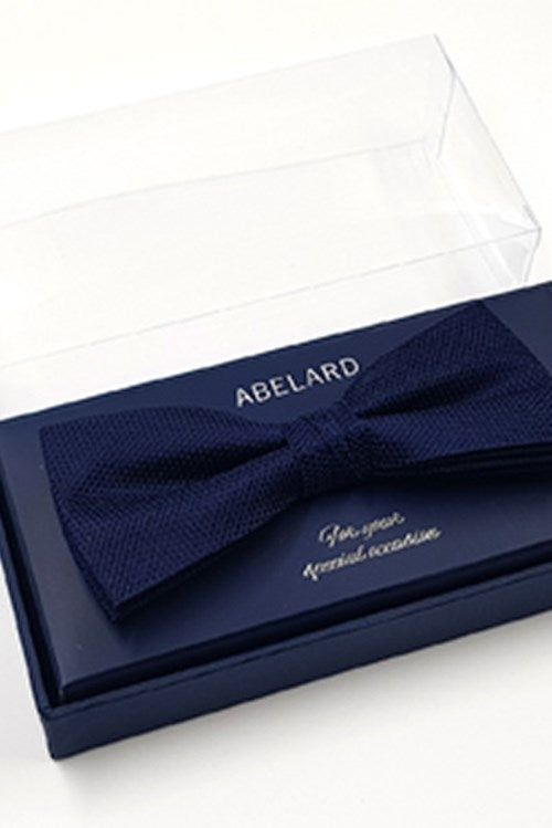 Abelard silk formal bow tie navy