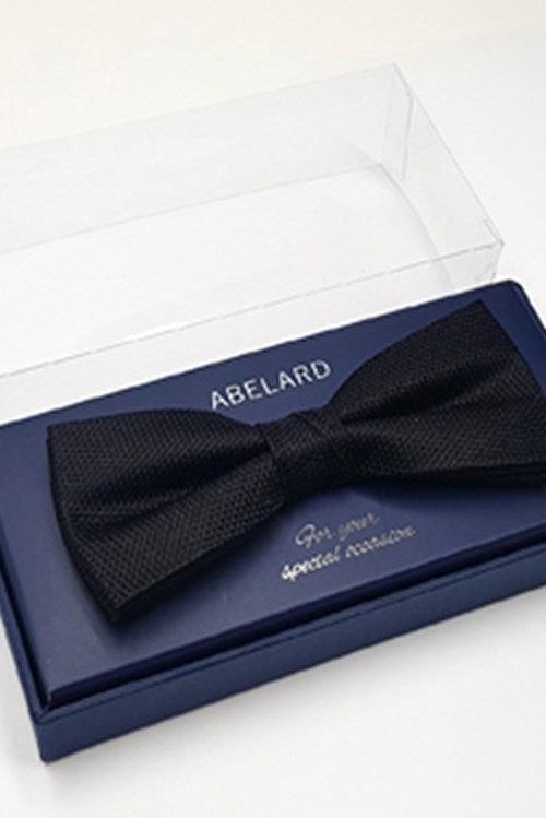 Abelard silk formal bow tie black