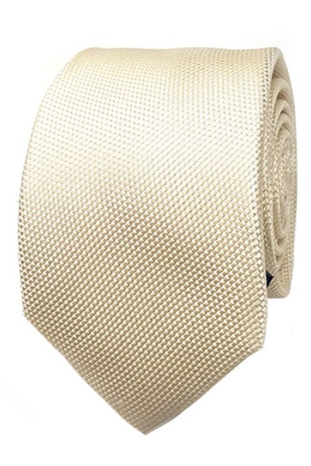Abelard plain silk formal tie ivory