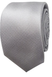 Abelard plain silk formal tie silver