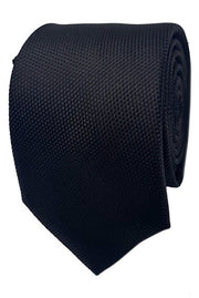 Abelard plain silk formal tie black