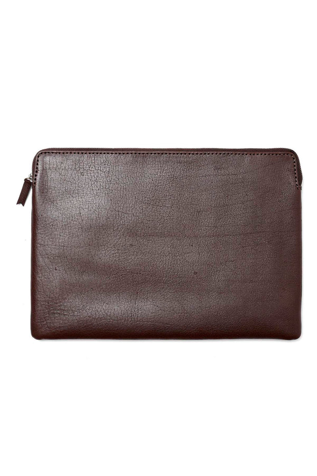 LOOP LEATHER CO ZIP IPAD SATCHEL CHOC