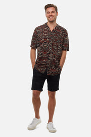 industries washed Cuba chino short black