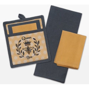 Queen Bee Potholder & Towel Set