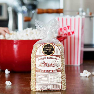 Amish Country Medium White Hulless Popcorn Kernels