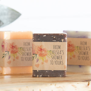 """Custom Label"" Soap Event Favors"