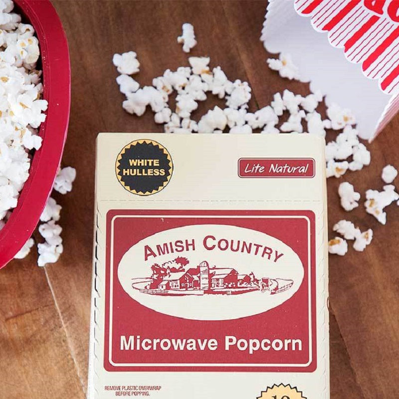 Amish Country Lite Natural White Microwave Popcorn