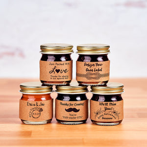 """Design Your Own Label"" Mini Jar Favor - Kraft Label"