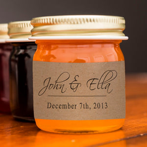 Custom Label Mini-Jar Event Favors