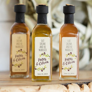 """Custom Label"" Olive Oil & Balsamic Vinegar Event Favors"