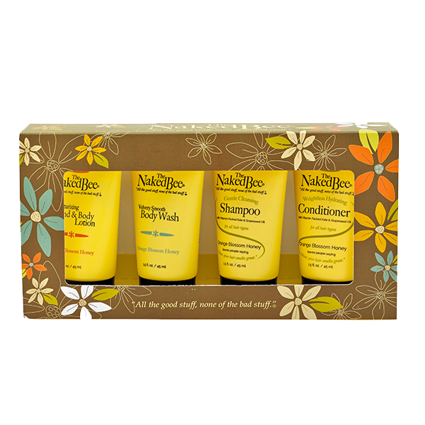 Naked Bee Orange Blossom Honey Travel Collection