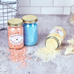 """Custom Label"" 8oz Bath Salt Jar"