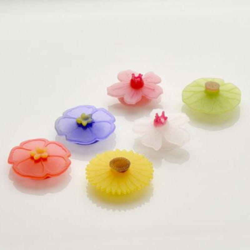 Floral Drink Markers - Set of 6
