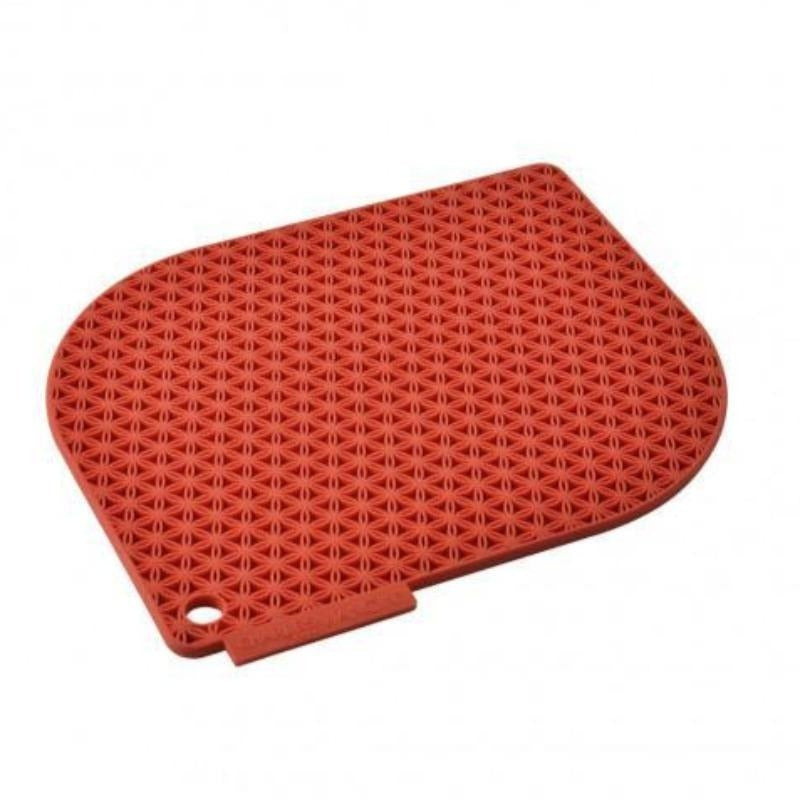 Honeycomb Silicone Potholder - Red