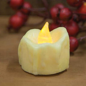 "Flickering Ivory Tea Light 1.5"" x 1"""