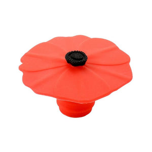 Silicone Wine Cork - Floral (Choose from 4 Colors)