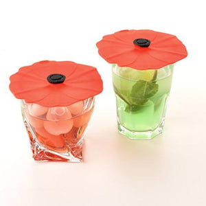 Poppy Silicone Drink Covers - Set of 2