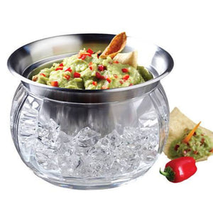 """Dips on Ice"" Stainless Steel & Acrylic Bowl Set"