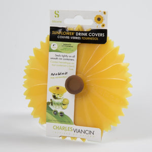 Sunflower Silicone Drink Covers - Set of 2