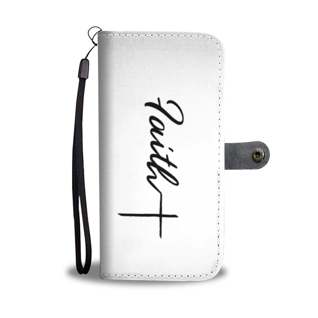 Faith Cross Wallet Case (No Real Redemption Logo)