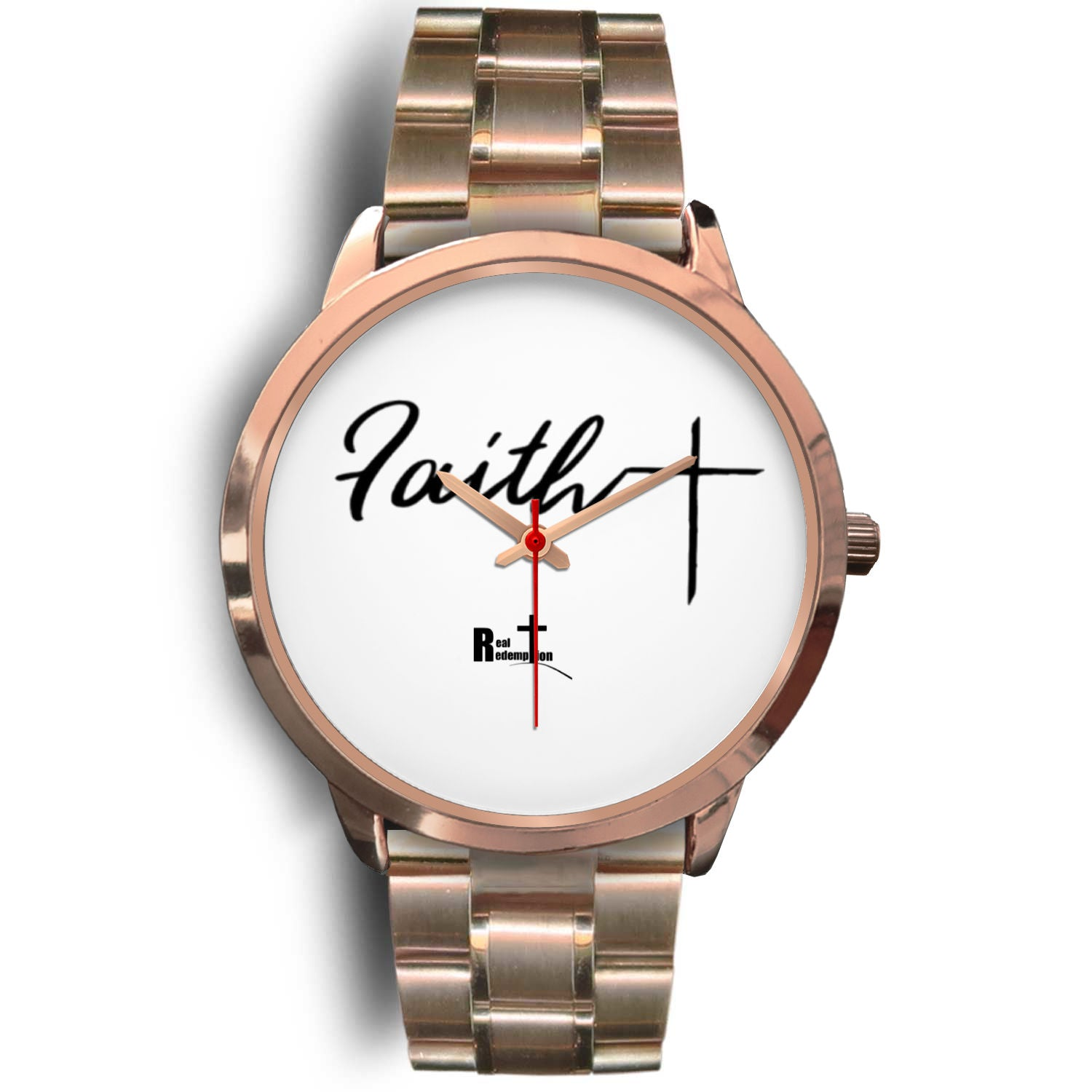 Rose Gold Faith Cross Watch