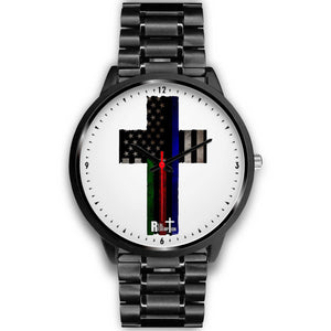 Military/ First Responders Support Flag Cross Watch