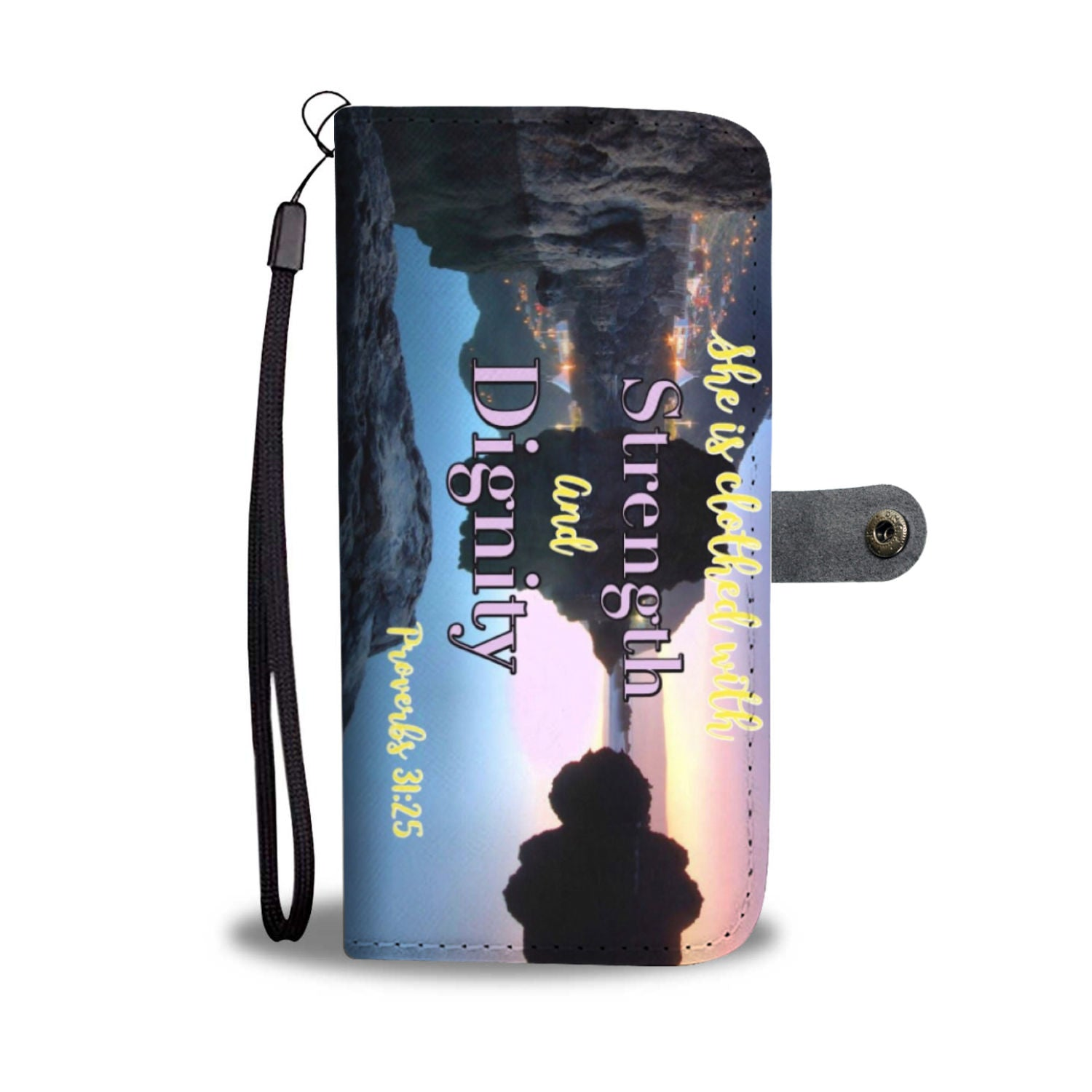 Proverbs 31:25 Wallet Phone Case