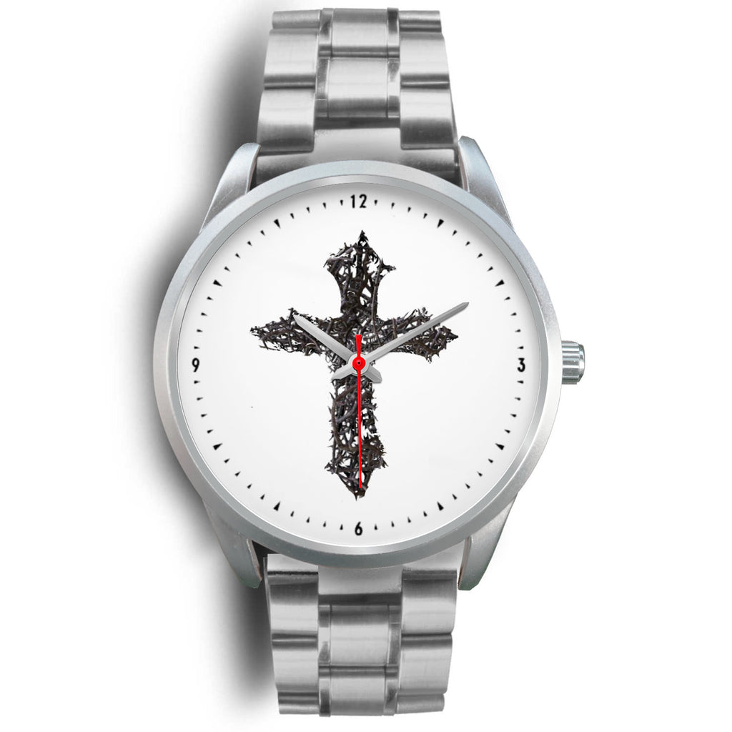Thorn Cross Men's Watch (Silver)