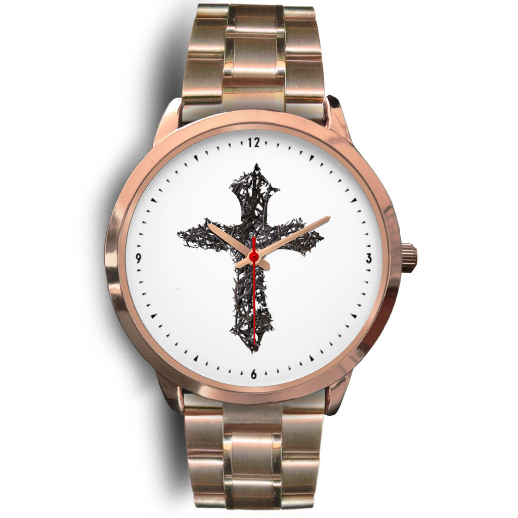 Thorn Cross Watch (Rose Gold)
