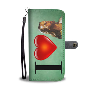 I Love Jesus Wallet Phone Case (Green)