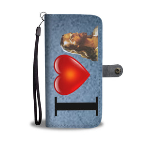 I Love Jesus Wallet Phone Case (Blue Marble)